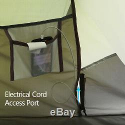 4-6 Personnes Pop Up Tente Double Couche Camping Familial Tente Résistant À L'eau Portable