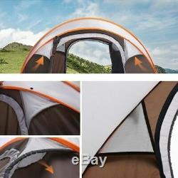 4-6 Personnes Ultraléger Grande Pop Up Camp Automatique Tente Abri Pare-vent Imperméable