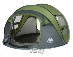 4 Personnes Camping Randonnée Instantanée Pop Up Famille Tente Extérieure Plage Abri Voyage