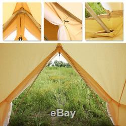 4 Saisons Grande Tente De Toile De Coton De Bell 6m Imperméable Glamping Beach + Cuisinière