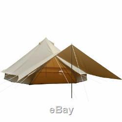 4 Saisons Tente Toile De Coton Imperméable Grande Tente De Camp De Famille Cloche Tente Yourte Yourte