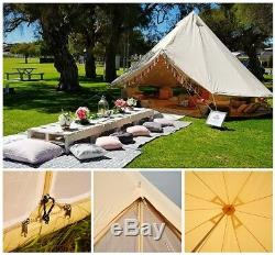4-saison 6m Imperméable En Toile Camping Tente De Bell Glamping Tente Safari Yourte Sibley