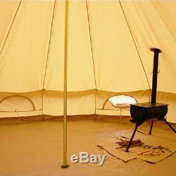 4-saison Glamping Tente De Bell 6m Tente En Toile Camping Safari Imperméable Yourte Sibley