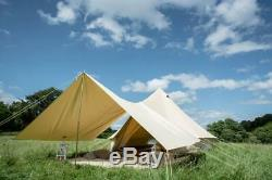 400 X 260cm Auvent Seulement Pour 4m 5m 6m Bell Canopy Canvas Tente, Abri