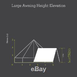 400 X 260cm Grande Auvent Avec Oeillets Supplémentaires Pour Toutes Les Tentes Bell Sable Ou Gris