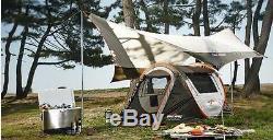 400x350cm Grande Tente Tarp Sun Abri Pour 5 À 8 Personnes Nouveau Camping Tente De Pique-nique