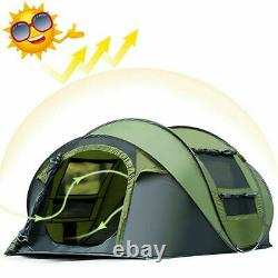 4person Man Family Tent Instant Pop Up Tent Breathable Outdoor Camping Randonnée Royaume-uni