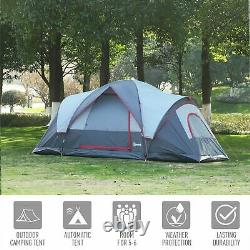 5/6 Personne Léger Camping Tente Blue Storage Compartiments Family Outdoor New