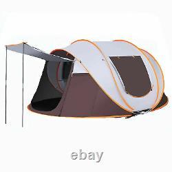 5-8 Personne Automatique Pop Up Tente Étanche Randonnée Camping Double Couche Grande Uk