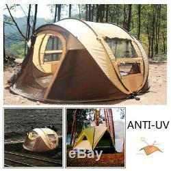 5-8 Personne Ultraléger Grande Pop Up Camp Automatique Tente Abri Pare-vent Imperméable