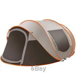 5-8 Personnes Grande Tente De Camping Automatique Étanche Au Vent Étanche Famille Pop Up