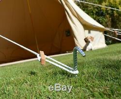 5m De Bell Tente Haute Spec 320gsm Zippées Tapis De Sol, Uv, Eau, Antimoisissure