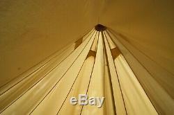 5m Grande Toile De Qualité Boutique Camping Bell Tente Tipi Wigwam + Bruant