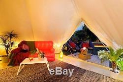 5m Toile De Bell Tente Imperméable Glamping Yourth Tente 4season Camping En Plein Air