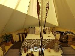 5m Toile Tente De Bell Tente Yourte Britannique Tente Camping 8-10 Personnes Tentes Étanche