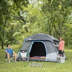 6 Personne Foncé Rest Chalet Tente 10 X 9 Abri Instant Portable Outdoor Camp Gris