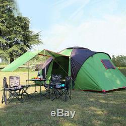 6 Personne Grande Tente Camping Famille Waterproof Randonnée Voyage 2 Chambre Extérieure K