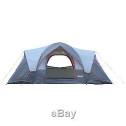 6 Personne Tente Camping Étanche Famille 3 Chambres Soleil Pluie Shelter Festival Des Randonnées