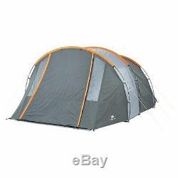 6 Personne Tunnel Tente Gris Orange Camping Waterproof Randonnée En Plein Air Folding Plage