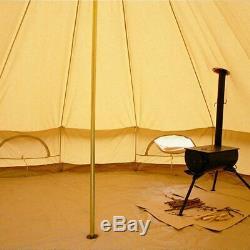 6m Poêle Trou Zig Cloche Tente Avec Fireproof Cuisinière Trou Étanche Glamping Yourtes