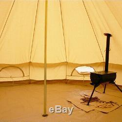 7m Grand Trou De Poêle De Tente De Cloche De Toile Yourte Imperméable Glamping Trou De Réchaud De Camping