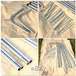 7m Imperméable Glamping Bell Tente De Camping Yourte Toile De Coton 4 Saisons Grande Taille