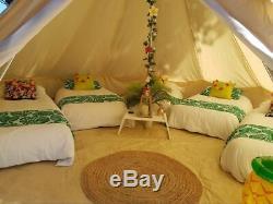 7m Toile De Bell Tente Tipi Tente Poêle Étanche Yourte Glamping Camping Grand Trou