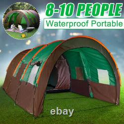 8-10 Hommes Family Camping Tente Waterproof Outdoor Garden Party Grande Chambre