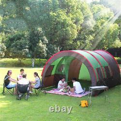 8-10 Personnes Grand Groupe Waterproof Family Festival Camping Tente En Tunnel Extérieur