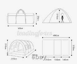 8-10 Tentes Familiales Imperméables À L'eau En Plein Air Camping Garden Party Grande Salle De Randonnée Tente