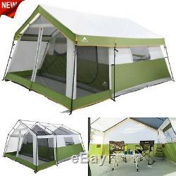 8 Personne Tente Instantanée Chalet Camping Familial Équipement Équipement Porch Screen Sleeping