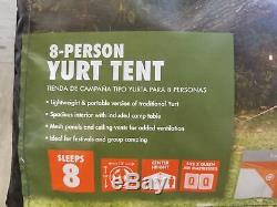 8 Personne Yourte Tente Grande Ozark Trail Famille Randonnée Camping 156w X 156d X 92 H