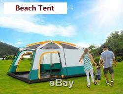 Abri De Protection Contre Le Soleil De Tente De Plage De Grand Groupe De Camping De Famille De 12 Hommes Imperméable