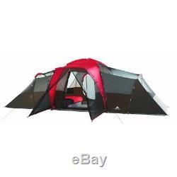 Abri De Randonnée Extérieur Pour Tente De Camping Ozark Trail, Grande Famille, 10 Personnes, 3 Chambres