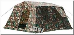 Armée Militaire Extérieure Grande Tente Abri Basecamp 6 Personnes Woodland Brand New