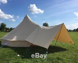 Auvent Tente Large En Toile Bell 400 X 240 -2 Mât Par Bell Tent Boutique -not Tent