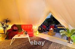 Bell Tentes 5 Mètres Tente Safari Toile Glamping Beige 4 Saison Veste Poêle Yourtes