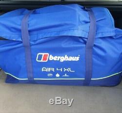 Berghaus Air 4 Marque Tente XL Famille Gonflable Nouveau