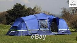Berghaus Air Tente 6 Avec Air Bundle Porche Rrp £ 1000 +
