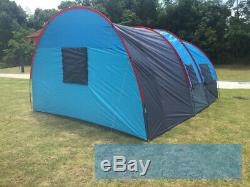 Best Tente Camping Tunnel Imperméable Double Couche Grande Tente Familiale 8-10 Personnes