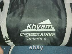 C'était Une Grande Tente Familiale. Khyam Ontario 8 5000. Réduit! 190 £