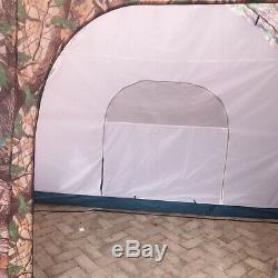 Camouflage Grande Tente Instantanée Famille 1 Chambre 2 Hall Camping Extérieur 8-10 Personnes