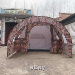 Camouflage Grande Tente Instantanée Famille 1 Chambre 2 Salle D'extérieur Camping 8-10 Personnes