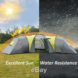 Camping Énorme Tente 9 Personne Big Grande Famille Extérieure Taud De Vacances Camp D'été