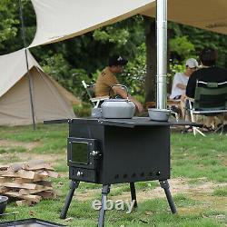 Camping Extérieur Feu De Poêle Portatif À Bois Pour Tente Bell