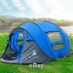 Camping Tente Grande Extérieur Automatique Jetant Pop Up Randonnée Waterproof 3 Personnes