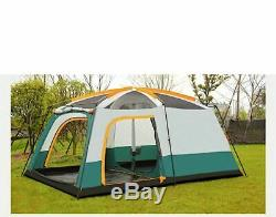 Camping Tente Ultra-grand Double Couche Extérieure Living Chambres Famille