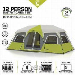 Campvalley Tente De Cabine De Festival Avec Famille Nombreuse Pour 12 Personnes