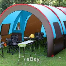 Capacité Extérieure De Double Couche Imperméable De Tunnel De Tente De Camping De 8-10 Personnes Grande