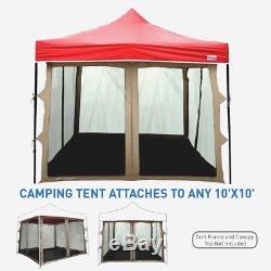 Chambre D'écran Pour La Tente Campante Grande Tente Debout Extérieure De L'abri 10x10 Projeté